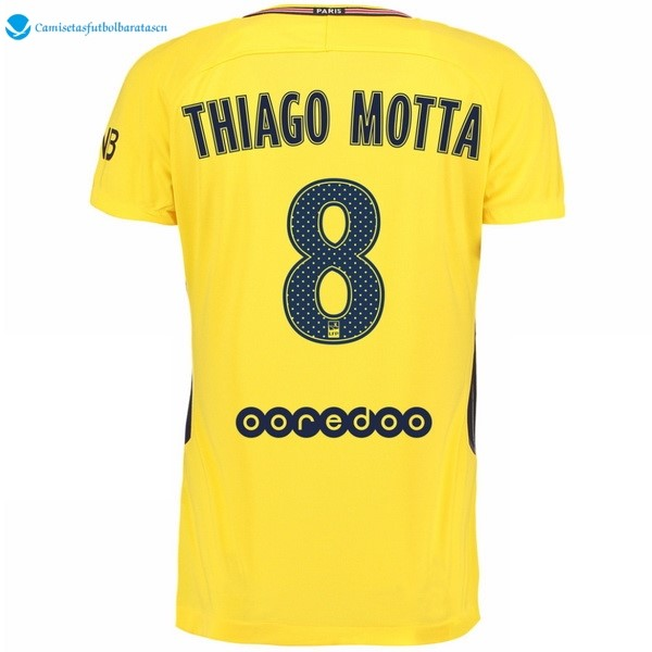 Camiseta Paris Saint Germain Segunda Thiago Motta 2017/2018